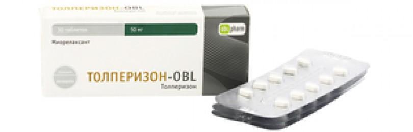 Таблетки толперизон-obl: инструкция по применению, цена, отзывы и аналоги