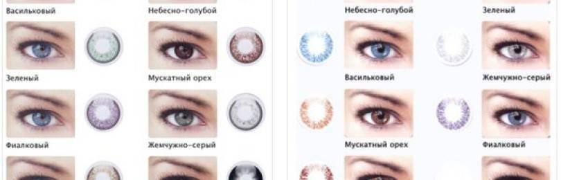 Цветные контактные линзы без диоптрий: карнавальные