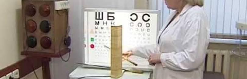 Требования к состоянию зрения при получении водительских прав