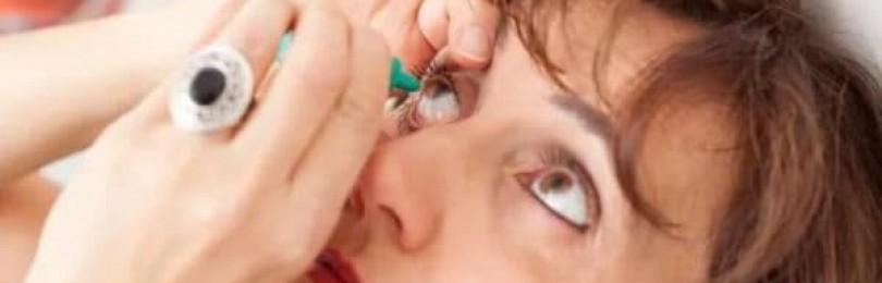 Действие глазных капель визоптик