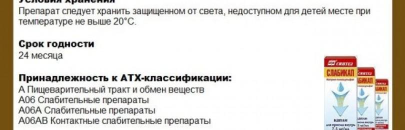 Инструкция к слабикап (капли)