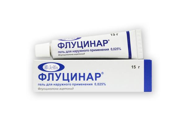 Флуцинар мазь - гормональное средство от псориаза, дерматита, экземы