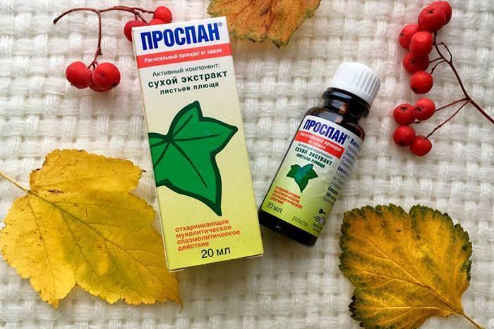 Лекарство от кашля проспан инструкция