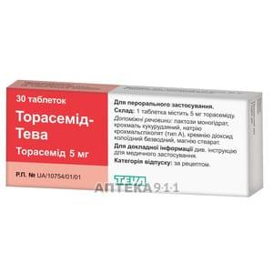 Препарат: торасемид в аптеках москвы