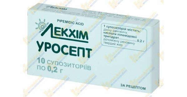 Уросепт, свечи: инструкция к препарату