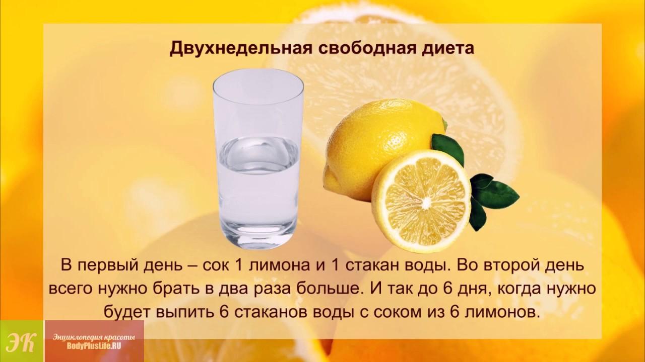 Лимонная Диета При Похудении. Вода с лимоном для похудения