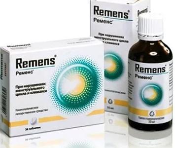 Ременс: капли и таблетки