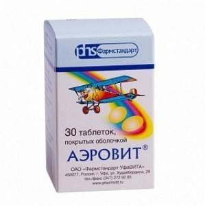 Состав витаминного комплекса аэровит