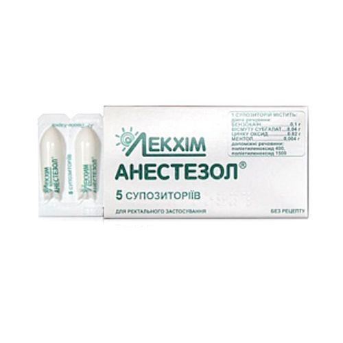 Цена, инструкция по применению и состав свечей от геморроя анестезол