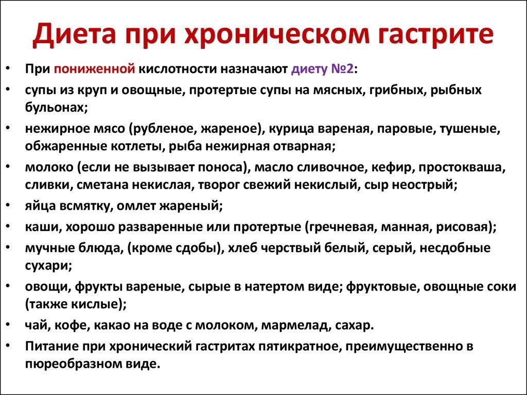 Советская диета при язве