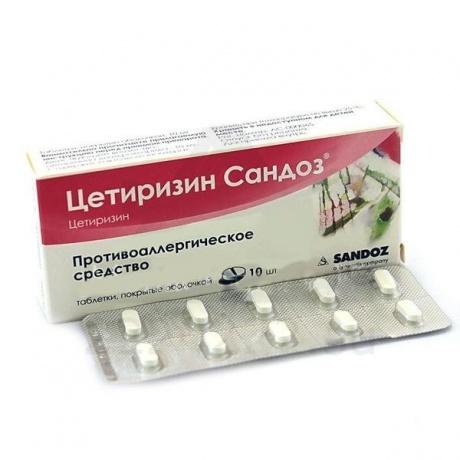 Цетиризин сандоз капли для приема внутрь