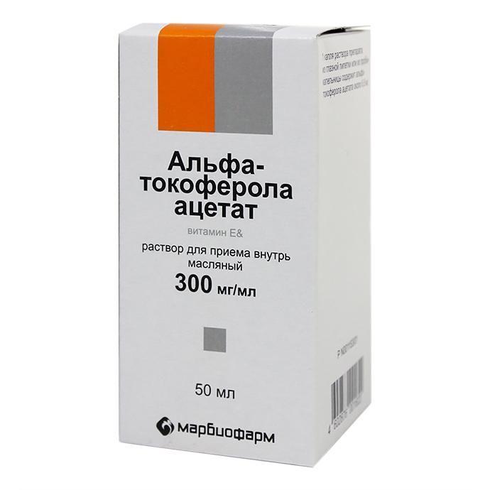 Препарат токоферола ацетат: инструкция по применению