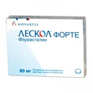 Лескол форте: инструкция по применению флувастатина, аналоги, цена, отзывы