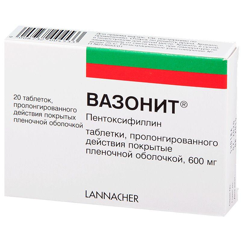 Вазонит 600 — препарат для лечения заболеваний сосудов