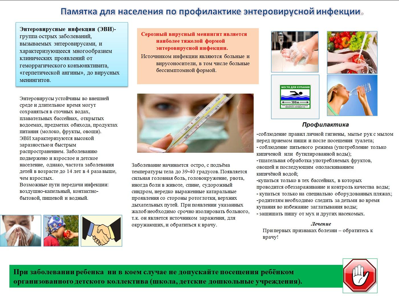 Энтеровирусная инфекция: симптомы, диагностика, лечение