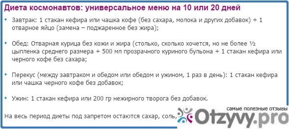 Диета Космонавтов 20 Дней Минус 20 Кг. Диета космонавтов для похудения — минус 20 кг за 20 дней
