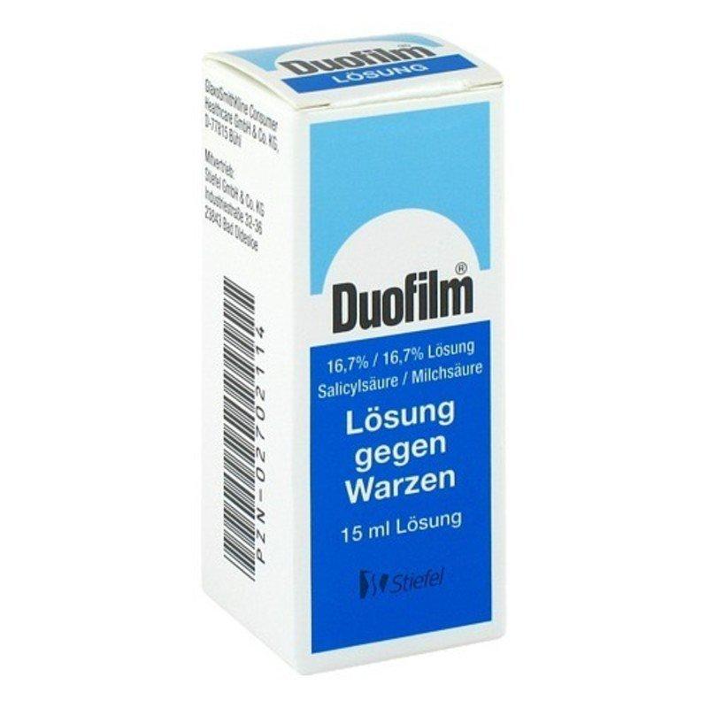 Дуофилм: принцип действия препарата, назначение и особенности использования