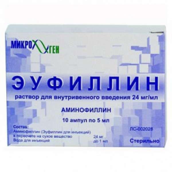Применение эуфиллина в таблетках и других формах: инструкция