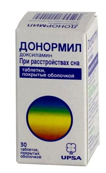 Таблетки от бессонницы донормил