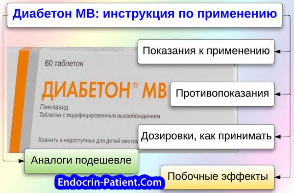 Гликлазид мв: инструкция по применению, аналоги и отзывы, цены в аптеках россии