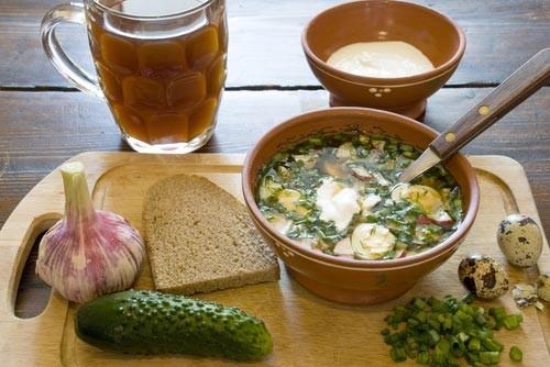 Рецепты диетической окрошки, меню диеты для похудения и отзывы