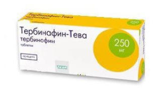 Тербинафин при лечении грибке ногтей