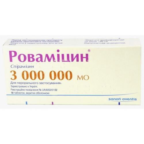 Ровамицин: инструкция по применению антибиотика для взрослых и детей, аналоги