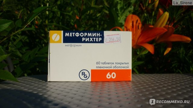 Препарат: метформин в аптеках москвы