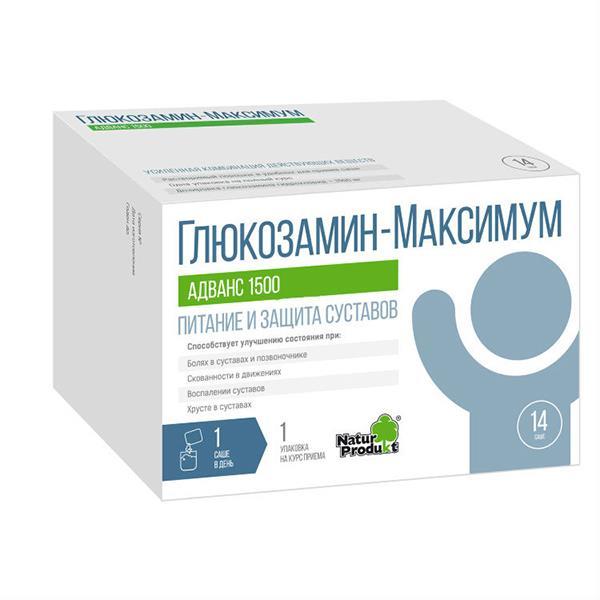 Прием лекарства глюкозамин
