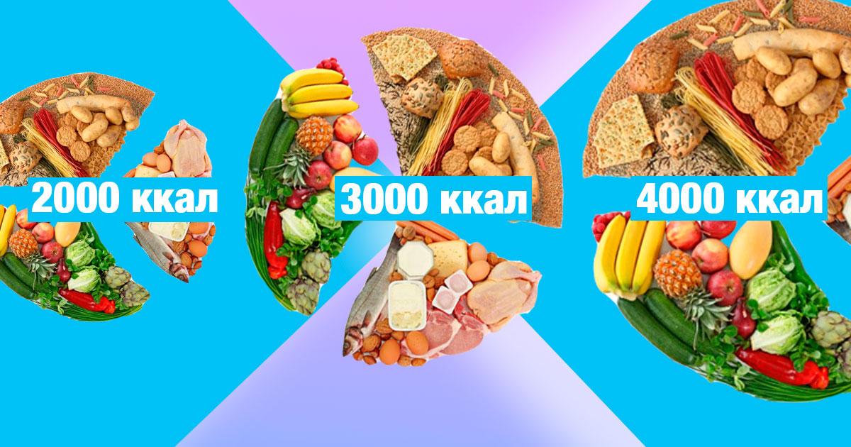 3000 Калории Диета. Диета 3000 ккал для массы – продукты, меню