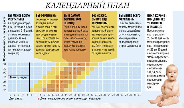 Как определить самые благоприятные дни для зачатия