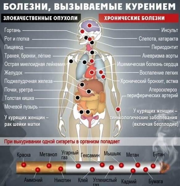 Бронхиальная астма и пристрастие к курению: последствия вредной привычки