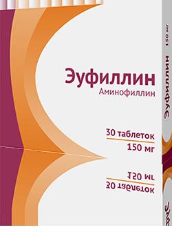 Лечения сухой кашель эуфиллин