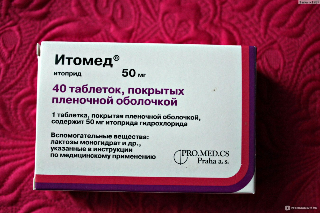 Итоприд таблетки 50 мг