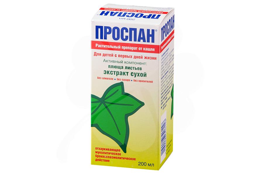 Проспан сироп от кашля: состав, показания, дозировка, побочные эффекты