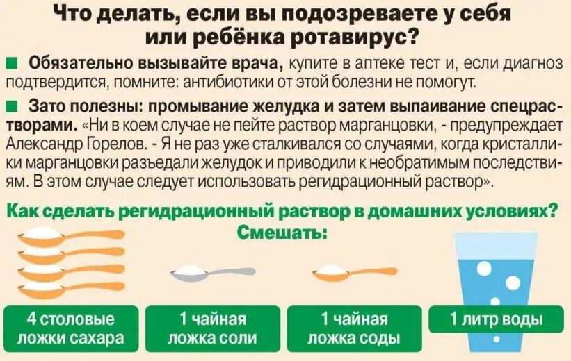 Диета при ротавирусной инфекции у ребенка; комаровский