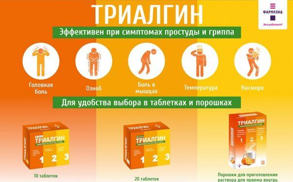 Инструкция по применению препарата триалгин и отзывы о нем