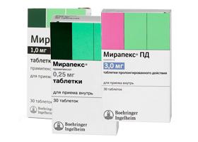 Аналоги таблеток мирапекс