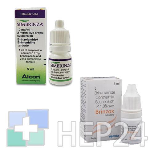 Альфаган р, капли глазные 0,15%, 5 мл*