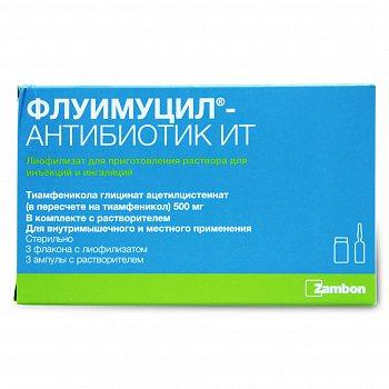 Способ применения антибиотика флуимуцил ит для ингаляций