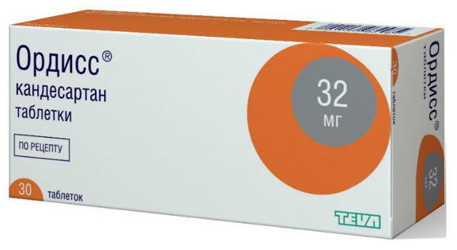 Кандесартан: таблетки 4 мг, 8 мг, 16 мг и 32 мг
