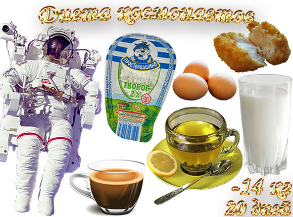 Диета Космонавтов 20 Дней Минус 20 Кг. Диета космонавтов