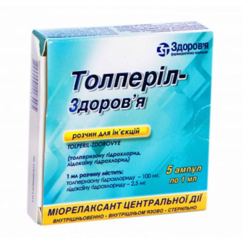 Толперил: состав, показания, дозировка, побочные эффекты