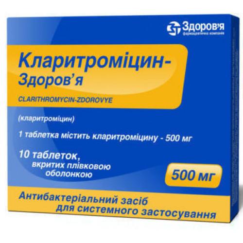 Таблетки 250 и 500 мг кларитромицин: инструкция по применению для детей и взрослых
