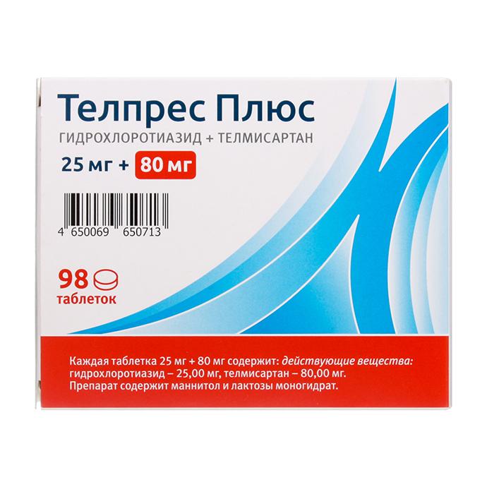 Таблетки телпресс плюс: инструкция по применению
