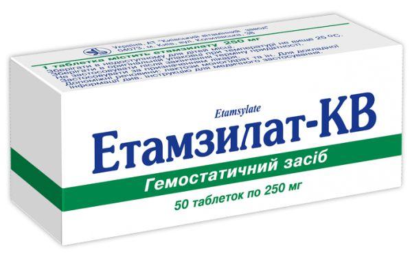 Таблетки этамзилат: инструкция по применению