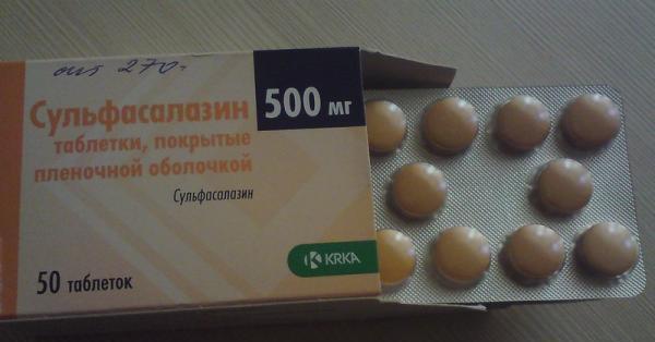 Приводим инструкцию по применению препарата сульфасалазин