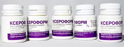 Порошок ксероформ — инструкция по применению, цена, аналоги препарата