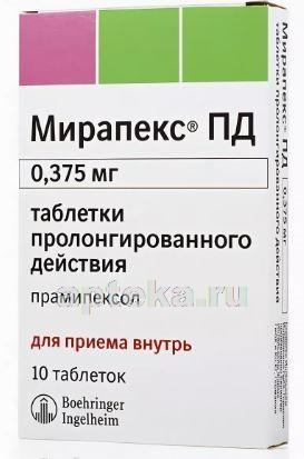 Мирапекс: инструкция по применению, цена, отзывы