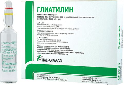 Инструкция по применению глиатилина в капсулах по 400 мг
